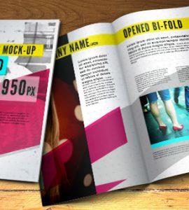 Psd Bifold Brochure Mock-Up Template
