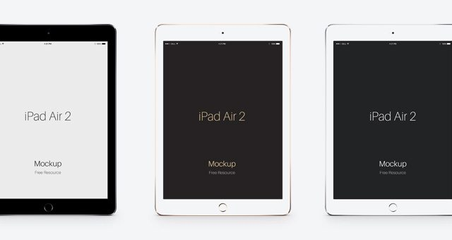 Psd iPad Air 2 Vector Mockup