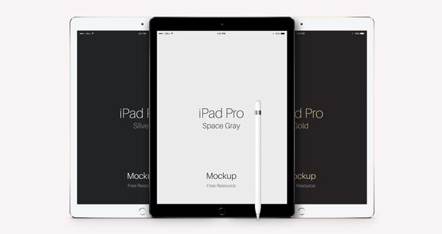 Psd iPad Pro Vector Mockup