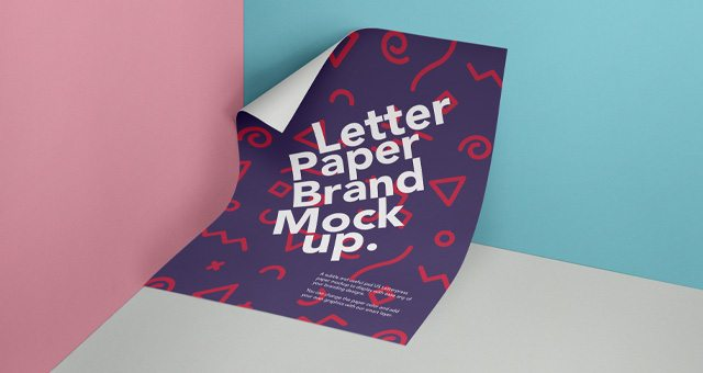 Psd Letter Paper Mockup