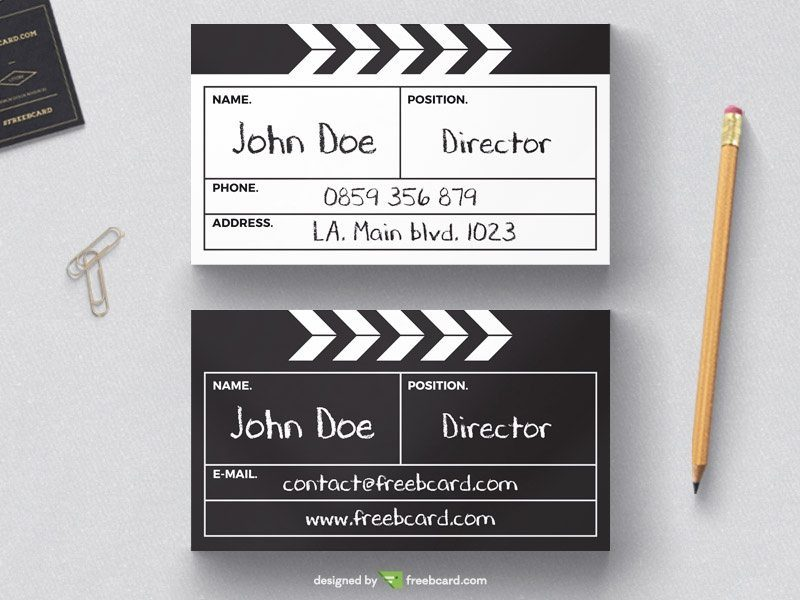 Directors cut board business card template