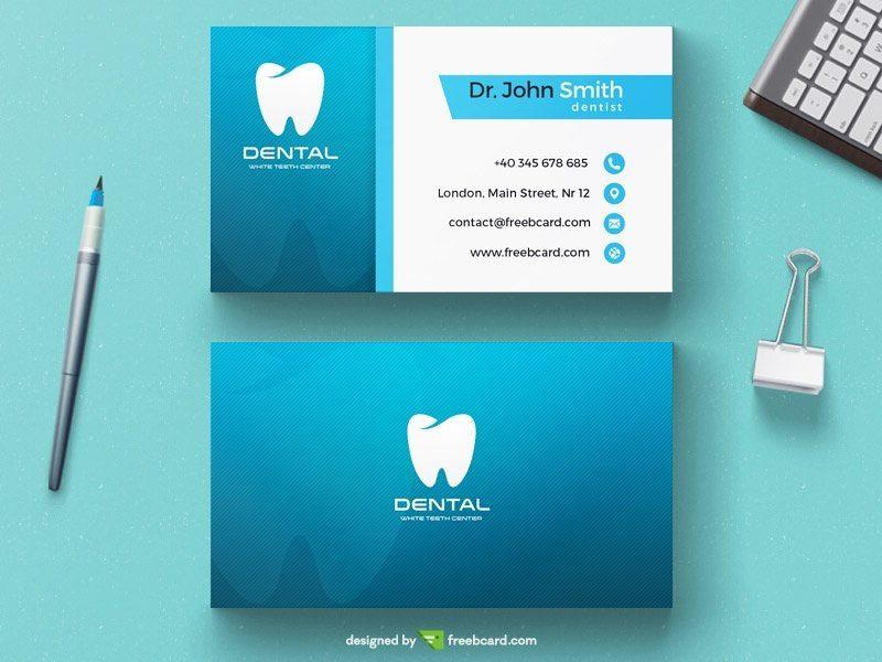 Creative dentist business card template dentist business card template reheart Choice Image