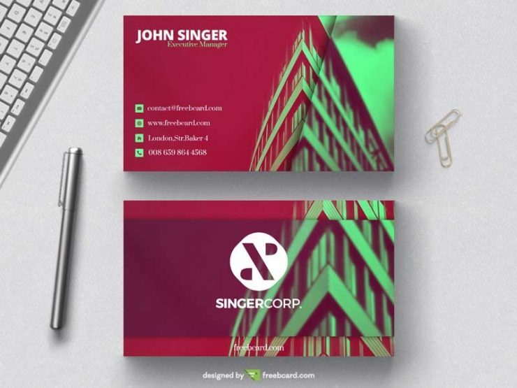 Architects business card template