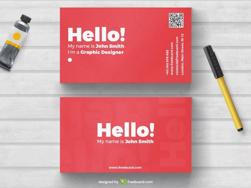 Creative minimal red business card template accmission Choice Image