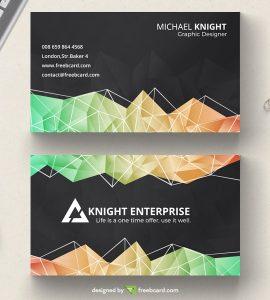 Dark polygonal business card
