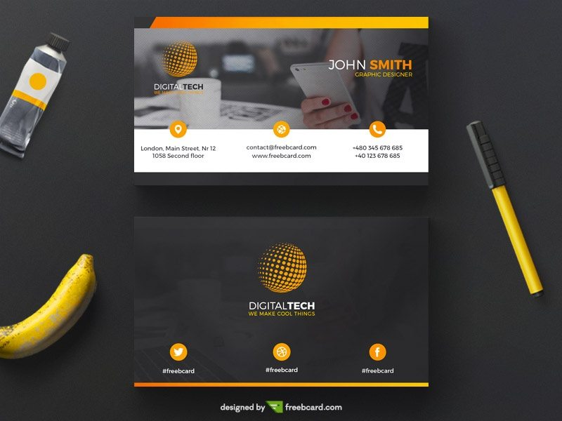 Yellow and black corporate business