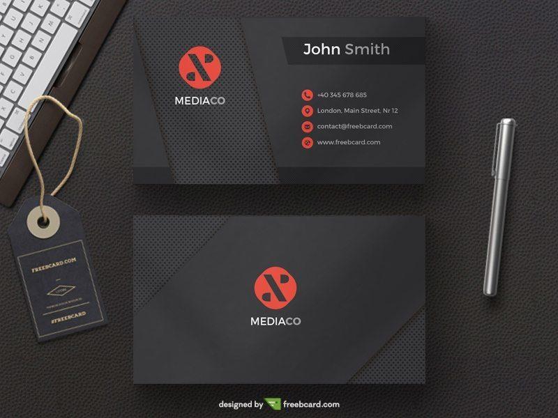 Dark Mediaco - Black Red Personal Card