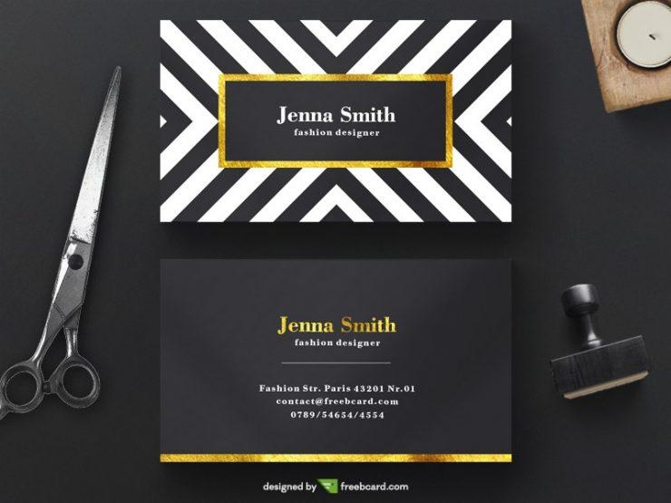 Minimal Gold Fashion business card