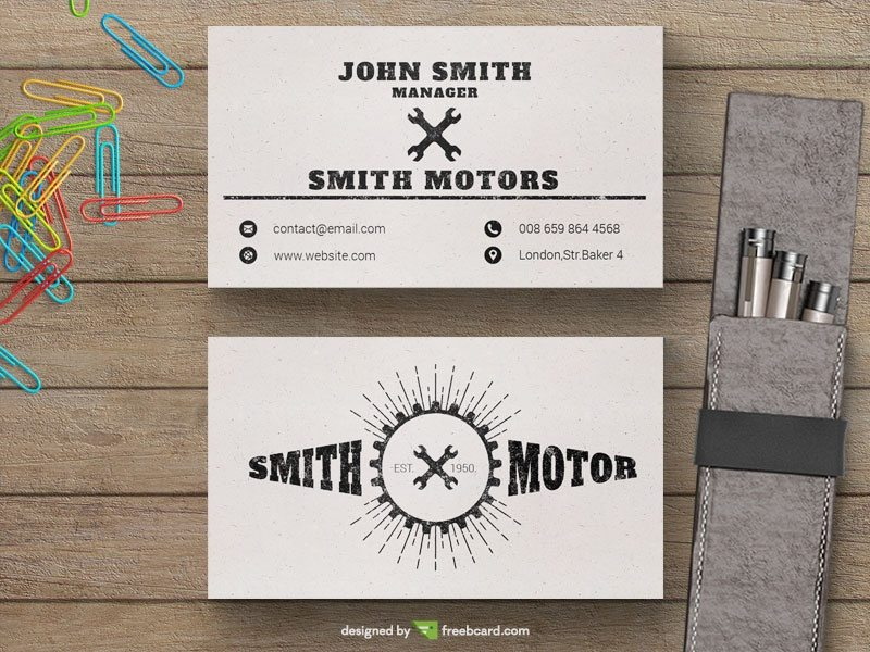 Car service business card