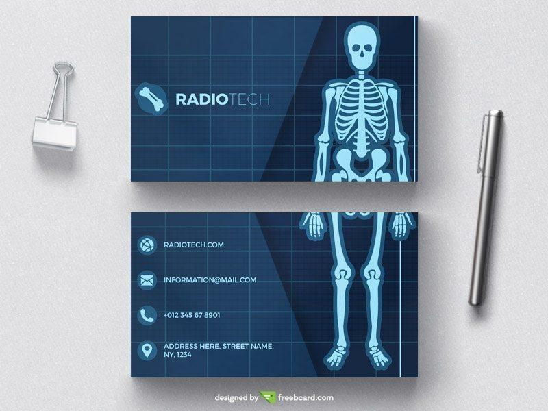 Medical radiology business card tempate