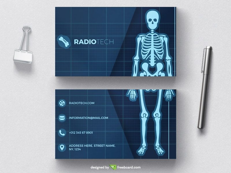 Medical radiology business card tempate