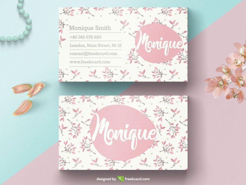 Floral Beauty Business Card Template