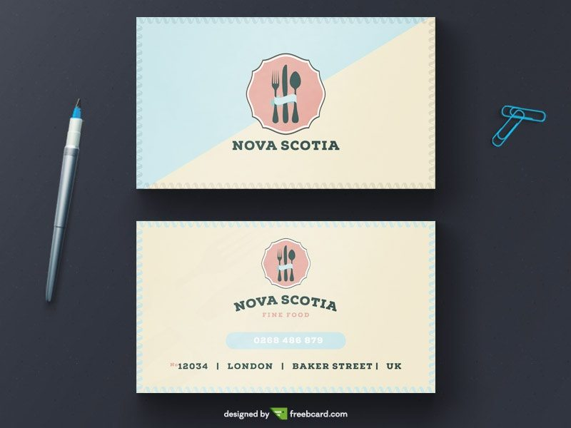 Vintage restaurant business card tempalte