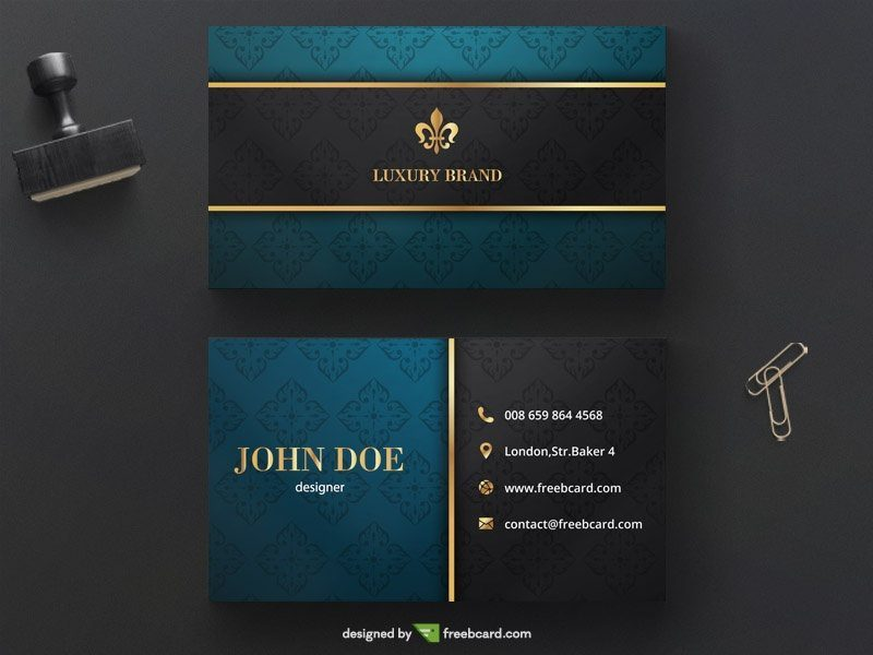 Classy luxury golden business card template