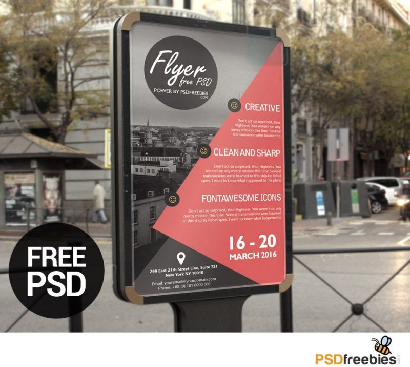 Creative business advertisement poster or flyer template psd flashek Images