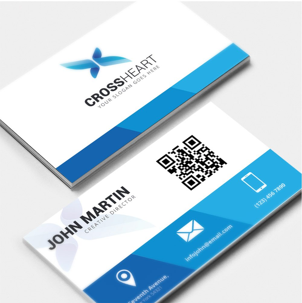 Corporate Business Card Free PSD - Business card design template free