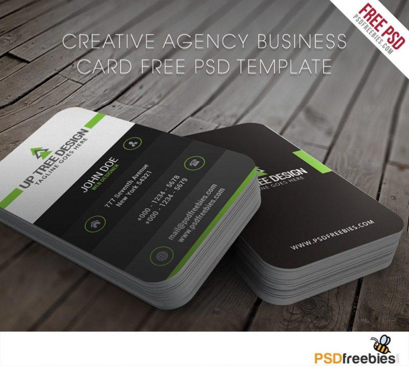 Creative Creative Agency Business Card Free PSD Template