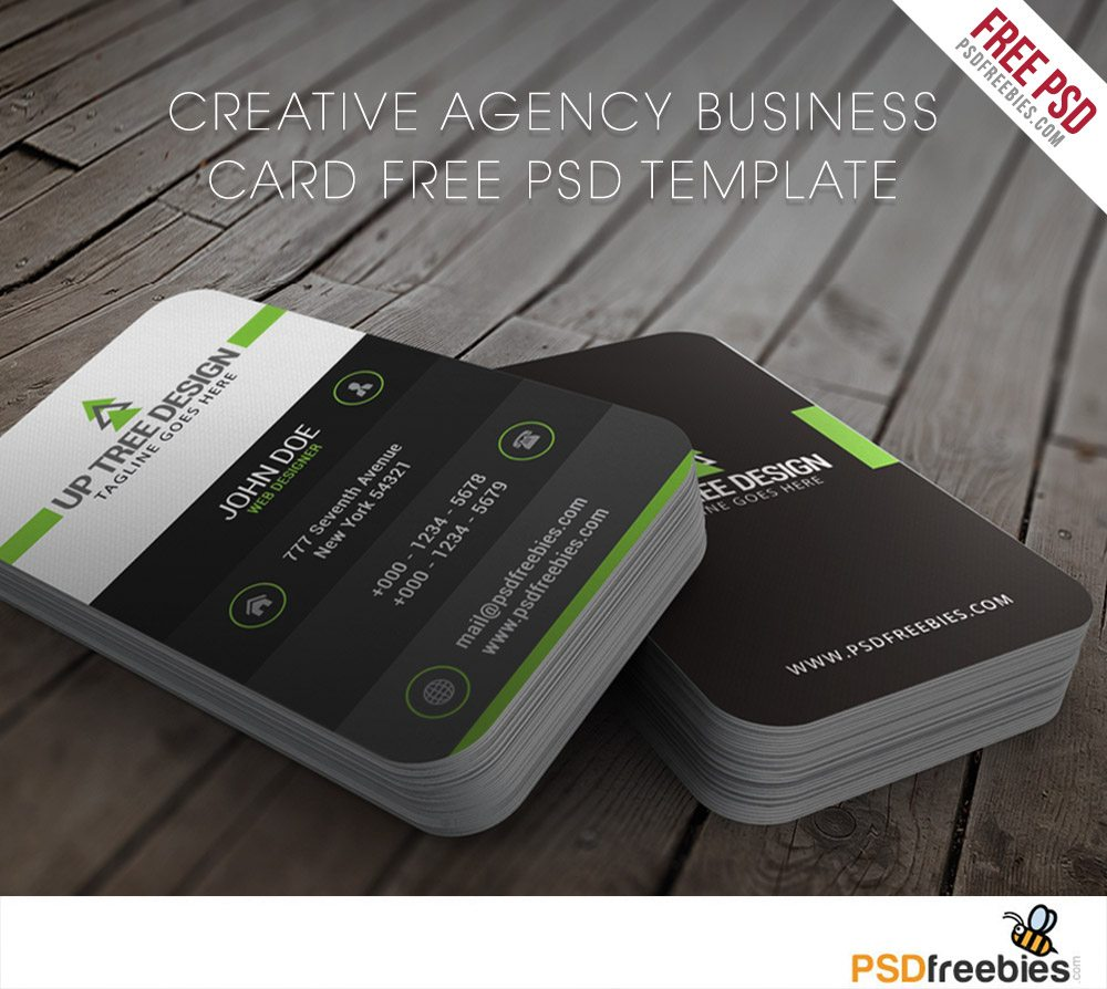 Creative Agency Business Card Free PSD Template - Templates business card