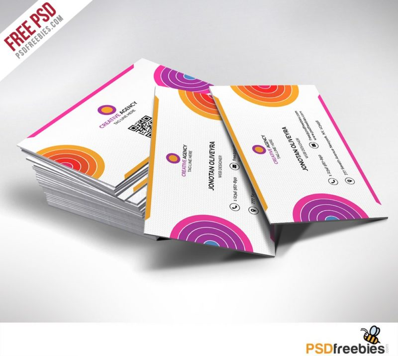 Creative Creative and Colorful Business Card Free PSD