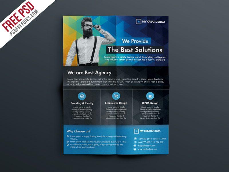 Creative Free Multipurpose Corporate Flyer Template Psd