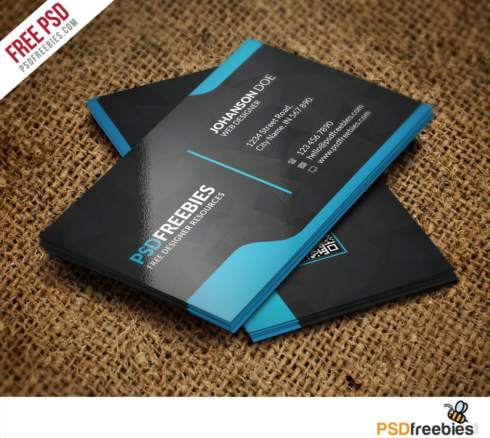 Creative graphic designer business card template free psd accmission Image collections