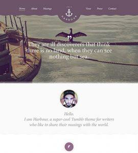 Creative Harbour free PSD website template
