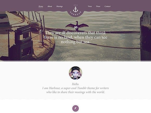 Creative Harbour free PSD website template