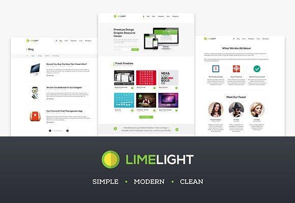 Creative Limelight ‰ÛÒ Free PSD web template