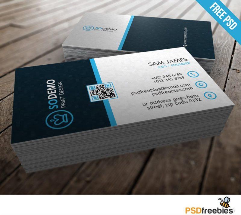 Creative Modern Corporate Business Card Template Free PSD