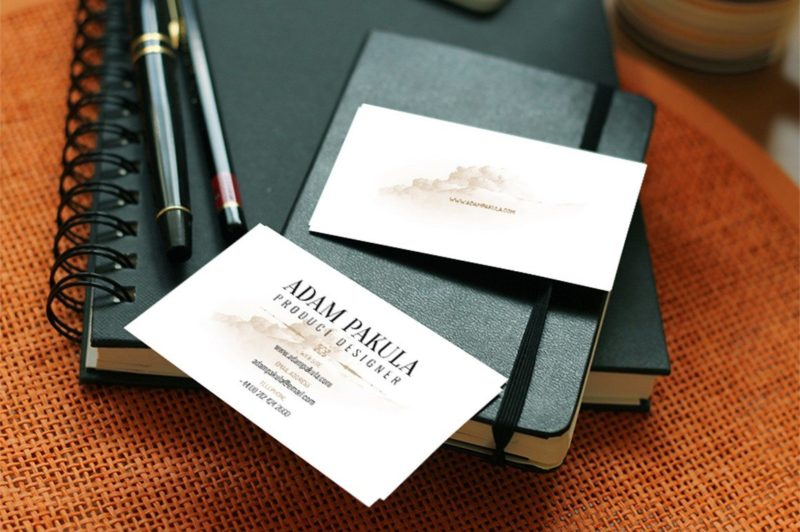 Creative Professional Business Card Mockup PSD Freebie