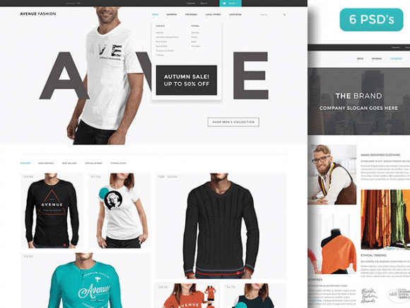 Creative Avenue Fashion: Free PSD ecommerce template