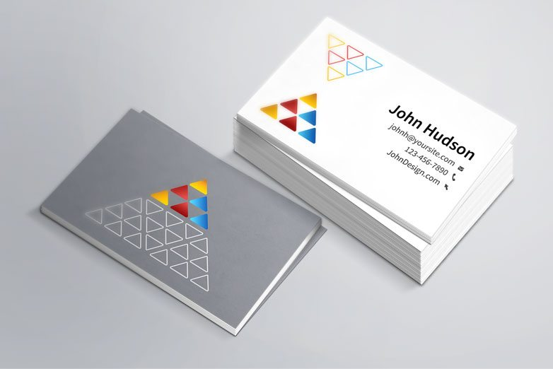 Creative business card template mockup psd flashek Image collections