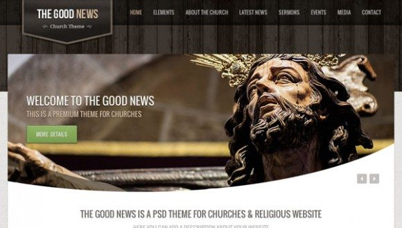 Creative The Good News ‰ÛÒ Church PSD Theme