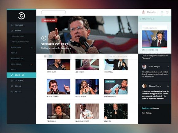 Creative Comedy Central concept PSD