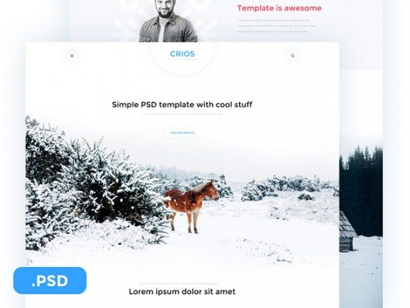 Creative Crios ‰ÛÒ Free PSD website template