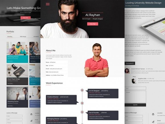 Creative CV / Resume PSD website template