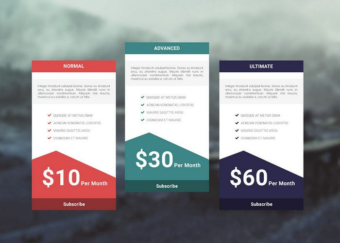35 free creative pricing plan table psd template