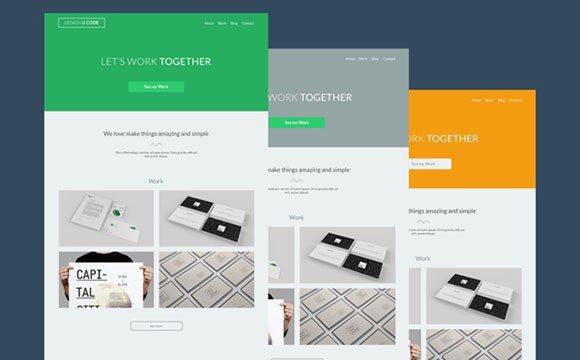Creative Design & Code: free PSD theme