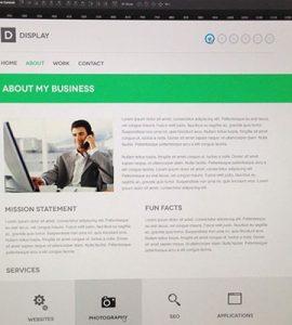 Creative Display PSD website template