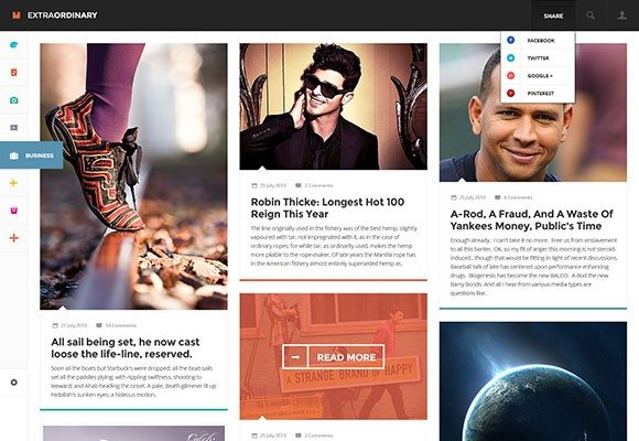 Creative Extraordinary Magazine ‰ÛÒ PSD template