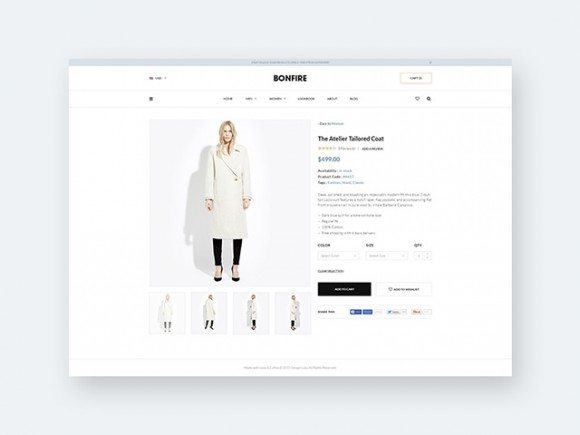 Creative Bonfire: Free ecommerce product page template