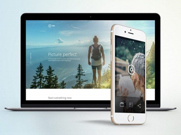 Creative Take: Landing page template for apps