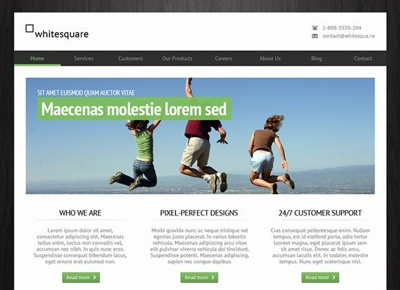 Creative Greenish free PSD website template