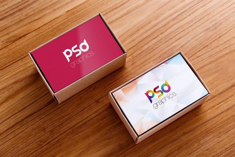 Creative Business Card Box Mockup Free PSD