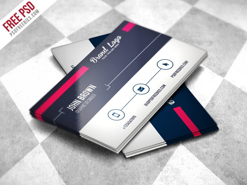 Creative Modern Business card Design Template Free PSD
