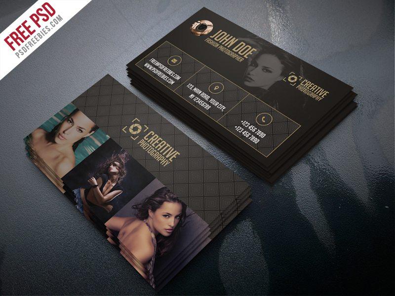 Creative Fashion Photographer Business Card Template Free PSD