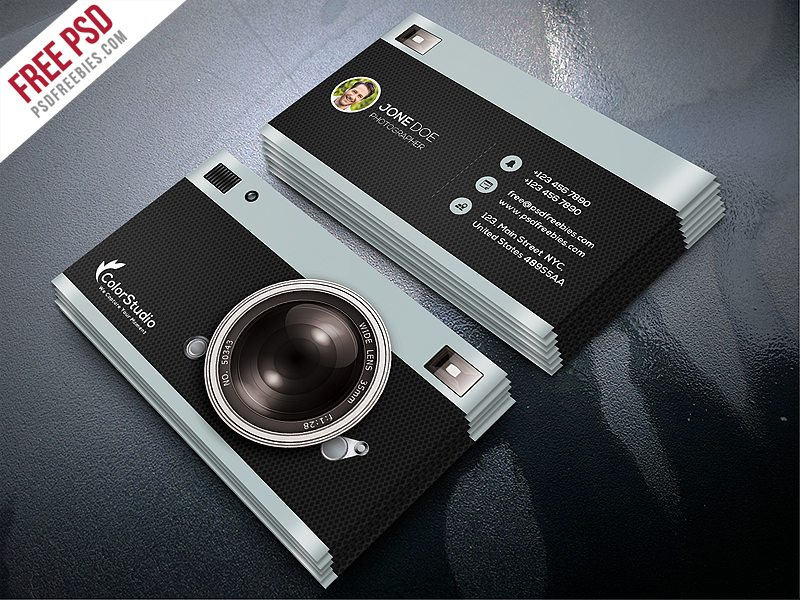 Creative photography business card template free psd cheaphphosting Choice Image