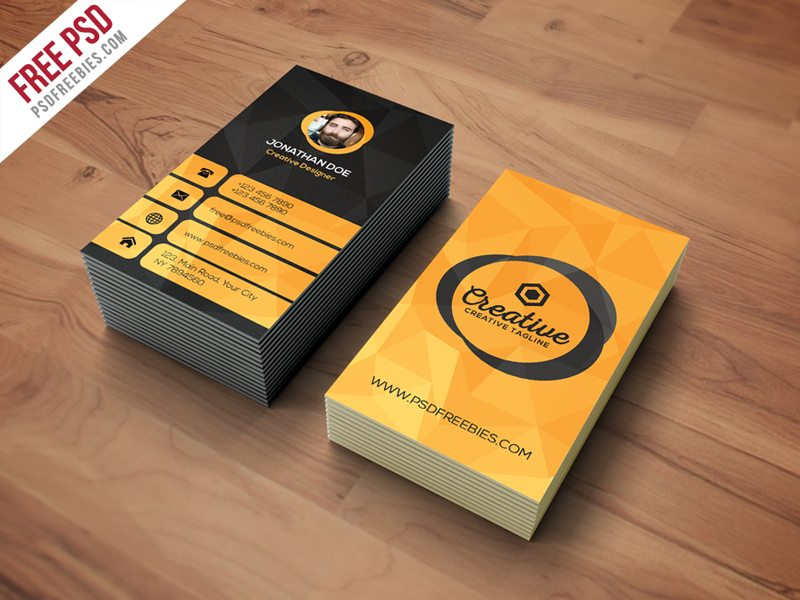 Creative Agency Business Card Template Free Psd