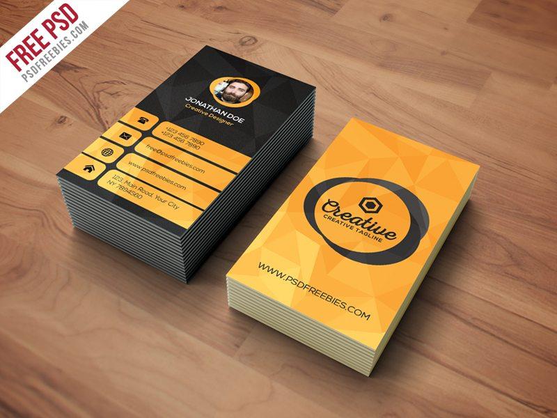 Creative agency business card template free psd colourmoves