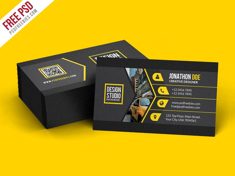 Creative Creative Black Business Card Template PSD – CreativePsdDownload